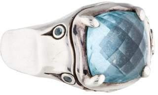 John Hardy Blue Topaz Bamboo Ring $495 thestylecure.com