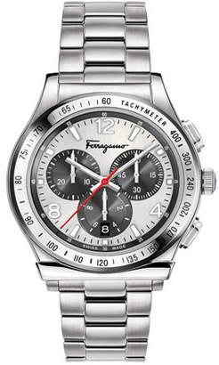Salvatore Ferragamo Men's 1898 Chronograph Bracelet Watch, Silver