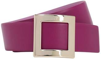 Roger Vivier 40mm Tres Vivier Leather Belt