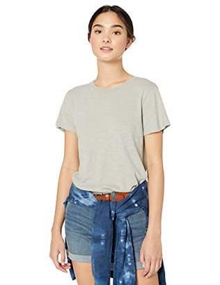 RVCA Womens Label Short Sleeve Crew Neck Baby T-Shirt