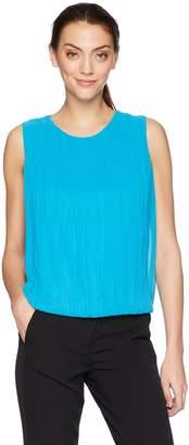 Calvin Klein Women's Sleeveless Solid Bubble Front Top