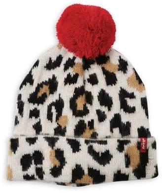 Levi's Leopard-Print Beanie
