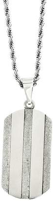 "Forza Stainless Steel Laser Cut Dog Tag Pendantw/ 22"" Chain"