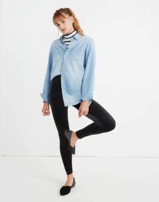 Madewell High-Rise Velvet Leggings