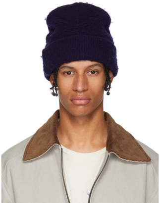 Acne Studios Indigo Wool and Cashmere Beanie