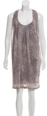 Acne Studios Racerback Animal Print Dress w/ Tags Grey Racerback Animal Print Dress w/ Tags