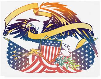 "American Eagle (アメリカン イーグル) - David Chestnutt American Eagle Flag Canvas Art - 19.5"" x 26"""