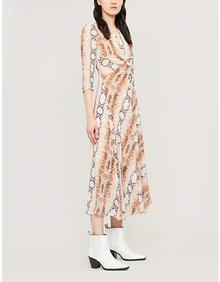 Maje Repena snake-print crepe dress