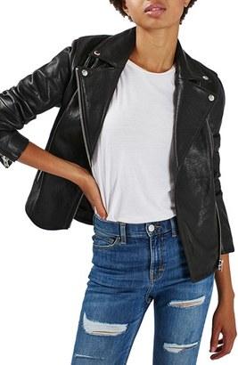 Topshop Leather Biker Jacket $360 thestylecure.com