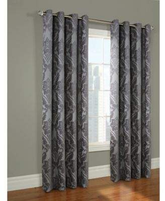 Paloma 84-Inch Grommet Top Window Curtain Panel in Grey
