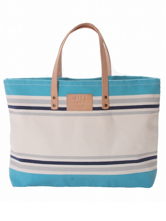 Will Leather Goods Bright Striped Carry All