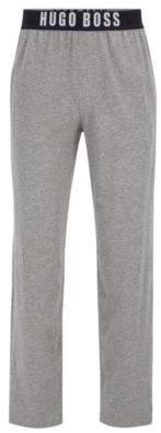 BOSS Hugo Logo-Banded Jersey Lounge Pant Identity Pants L Grey