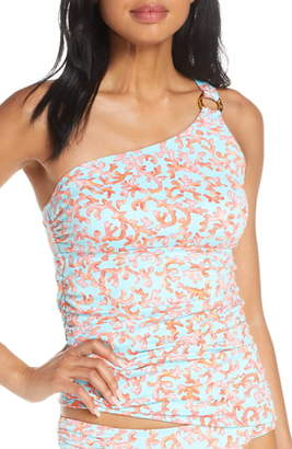 Tommy Bahama Coral Cabana One-Shoulder Tankini Top
