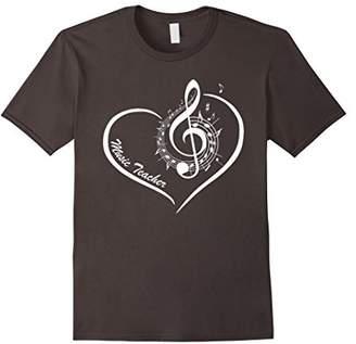 Music Teacher T shirts - Music Teacher Heart Shirt