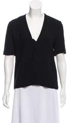 A.L.C. Short Sleeve V-Neck Blouse