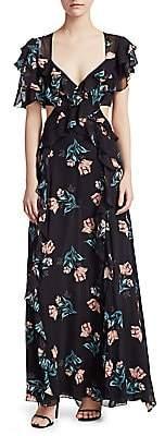 Nicholas Women's Piper Silk Cutout Long Dress