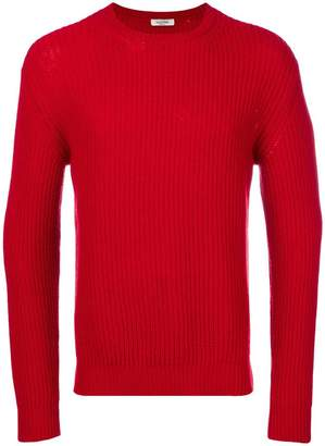 Valentino cashmere ribbed knit jumper