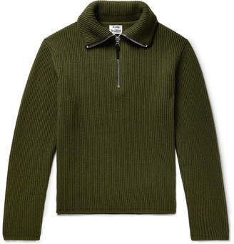 Acne Studios Wool-Blend Half-Zip Sweater