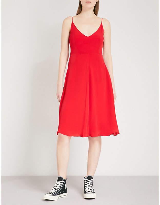 Deanna crepe slip dress