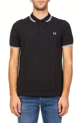 Fred Perry Twin Tipped Pique Cotton Polo Shirt