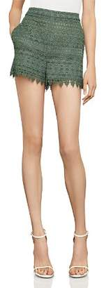 BCBGMAXAZRIA Scalloped Lace Shorts