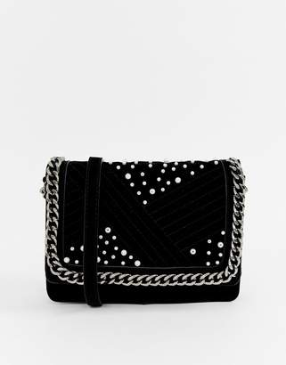 Pieces Jael cross body bag with chain handle