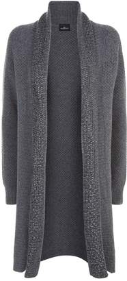 William Sharp Embellished Textured Cashmere Cardigan