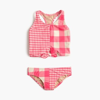 Girls' tankini set in mixed neon gingham $52.50 thestylecure.com