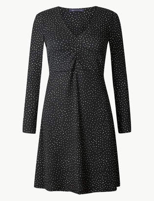 M&S CollectionMarks and Spencer PETITE Polka Dot Jersey Swing Dress