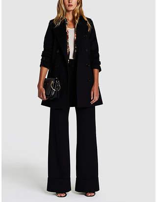 Burberry Ladies Black Modern Kensington Wool And Cashmere-Blend Coat