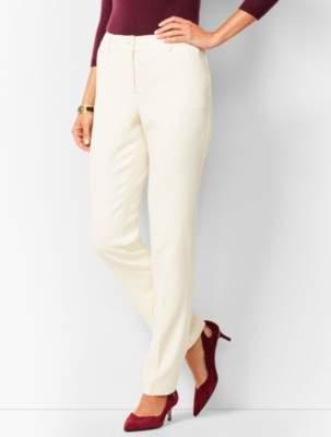 Talbots High-Waist Straight-Leg Lined Wool Pants Ivory