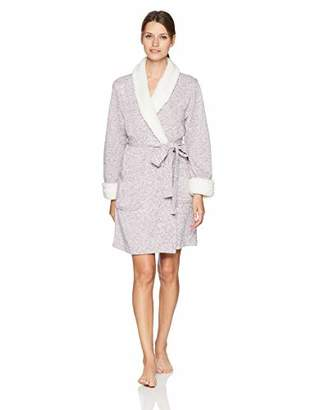 Arabella Women's Sweater Fleck Shawl Collar Wrap Robe