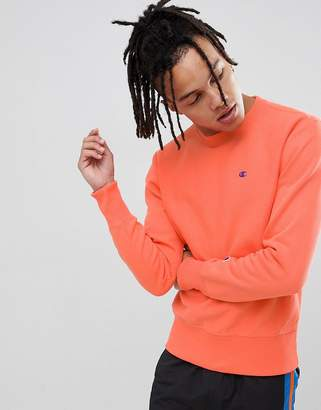 Champion reverse weave sweatshirt with small logo in peach