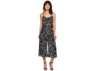 MICHAEL Michael Kors Abstract Palm Jumpsuit Women's Jumpsuit & Rompers One Piece