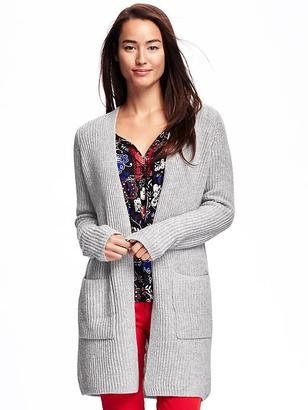 Relaxed Open-Front Shaker-Stitch Cardi for Women $44.94 thestylecure.com