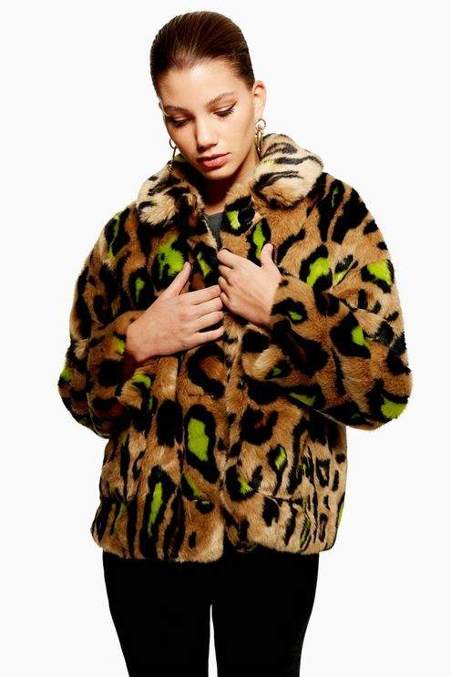 Cropped Leopard Print Jacket
