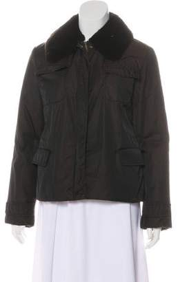 Max Mara Weekend Fur-Trimmed Padded Jacket