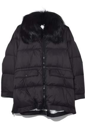 Yves Salomon Ultra Light Nylon Jacket in Noir