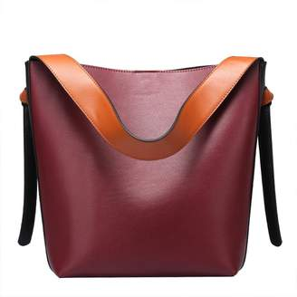 Qiwang Genuine Leather Handbags for Women Supple Hobo Bags Shoulder Handbags Top-handle Handbags