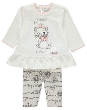 CAT Disney Aristocats White Top and Leggings Outfit