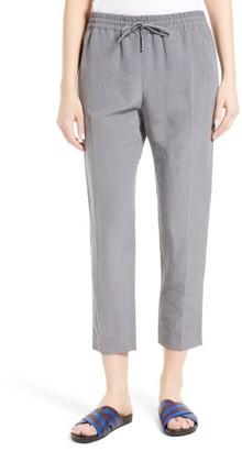 Women's Joseph Louna Linen & Silk Crop Pants $475 thestylecure.com
