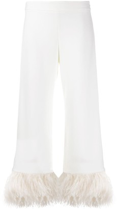 P.A.R.O.S.H. feather embellished trousers