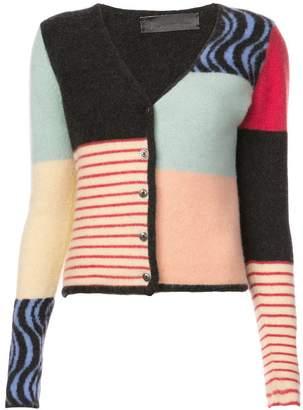 The Elder Statesman colour block cardigan
