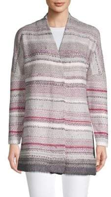 Nic+Zoe Open-Front Striped Cardigan
