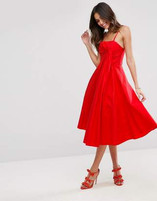 Asos DESIGN Premium Extreme Fold Midi Prom Dress