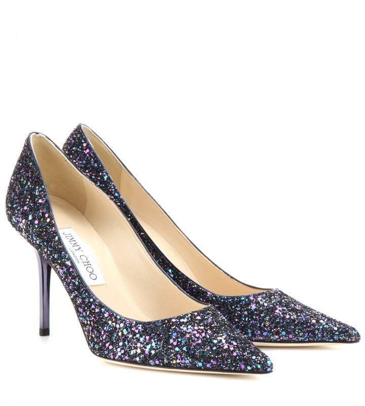 Jimmy Choo Agnes glitter pumps