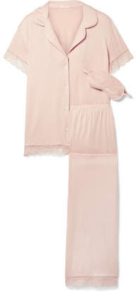 Eberjey Malou Lace-trimmed Stretch-modal Jersey Pajama Set - Blush