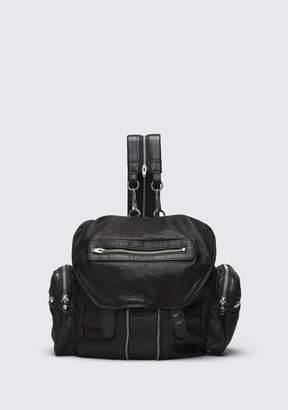 Alexander Wang MARTI BACKPACK IN WASHED BLACK WITH RHODIUM