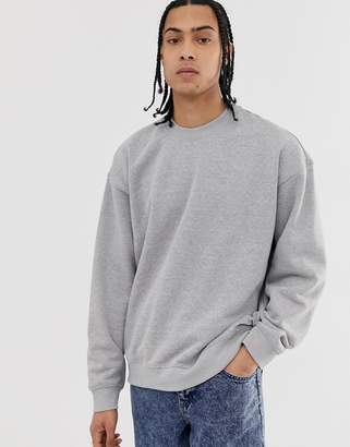 Weekday Big Steve sweatshirt in gray