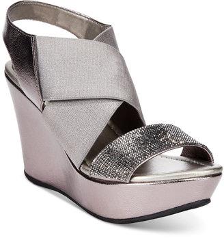 Kenneth Cole Reaction Women's Sole Less 2 Platform Wedge Sandals Women's Shoes $79 thestylecure.com